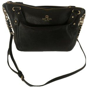Kate Spade Crossbody Handbag Leather Satchel Black